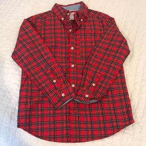 Boys Carter's red plaid shirt  size 7